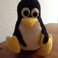 Den hæklede pingvin Tux