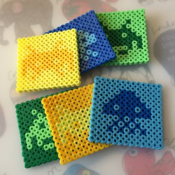 Coaters med space invaders
