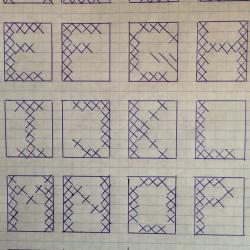 Broderede bogstaver, 5x6 felter - DIY