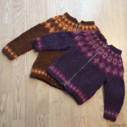 Islandssweater med lynlås